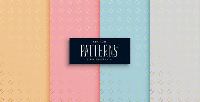 stylish ethnic golden pattern set of four