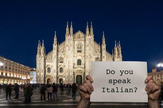 Do you speak Italian?