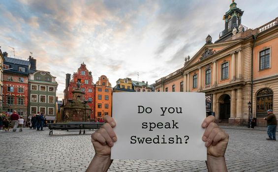 Do you speak Swedish?