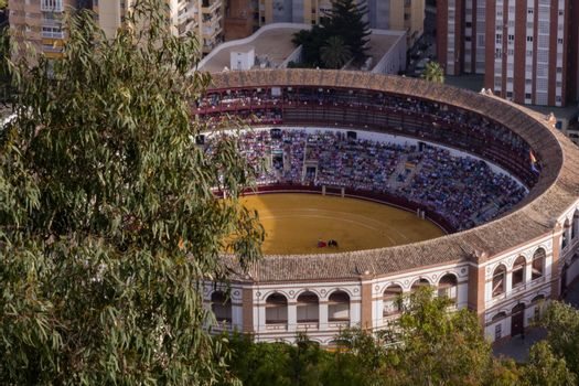 Bird's Eye View of a Bullfighting Ring
