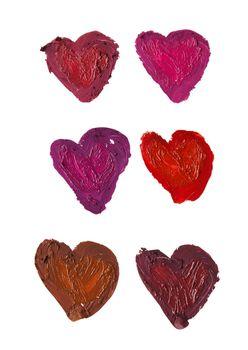 smashed heart shaped