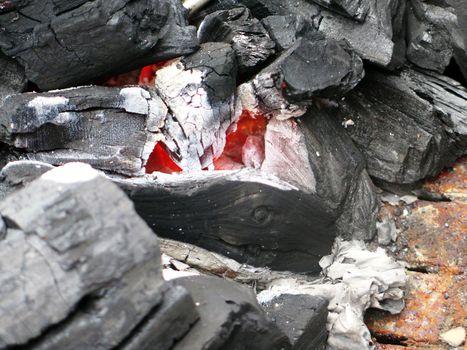 BBq ready Hot carbon