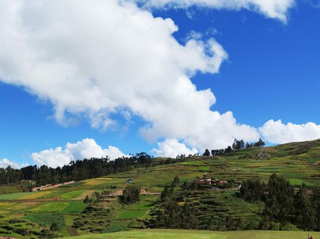 Agricultural field in Sacred Valley, Cusco