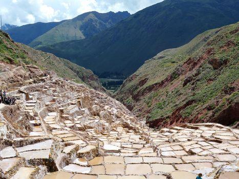 Salt pond, Maras, Sacred Valley, Cusco Region, Peru