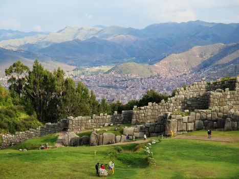 Sacsayhuaman, Incas ruins in the peruvian Andes