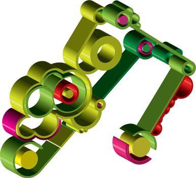 Abstract gear wheels