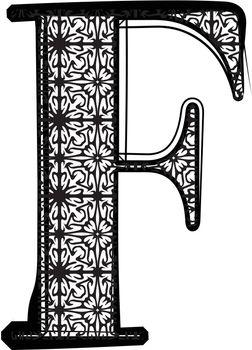 Fashion font Letter F