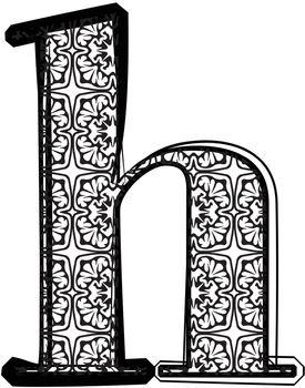 Fashion font Letter h