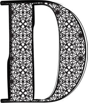 Fashion font Letter D