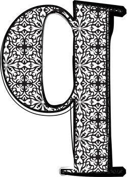 Fashion font Letter q