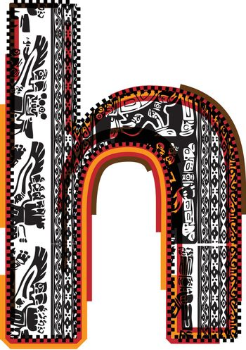 Inca`s font letter h