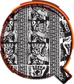 Inca`s font Letter Q