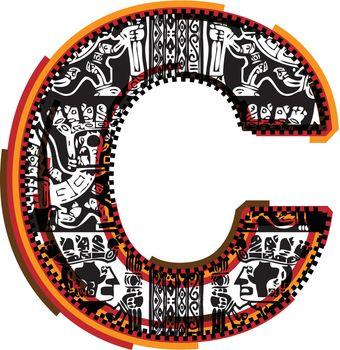 Inca`s font letter c