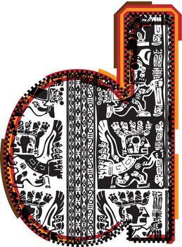 Inca`s font letter d
