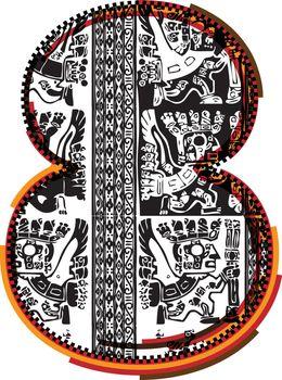 Inca`s font Number 8