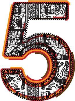 Inca`s font Number 5
