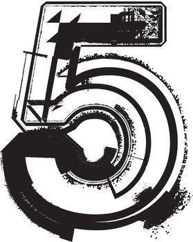 Grunge Font NUMBER 5