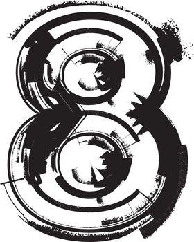 Grunge Font NUMBER 8
