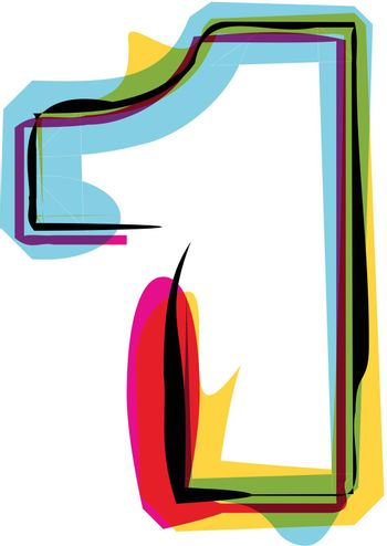 Abstract Colorful Number 1