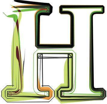 Organic type. Letter H