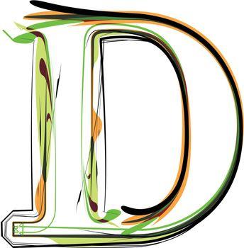 Organic type. Letter D
