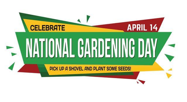 National gardening day banner design