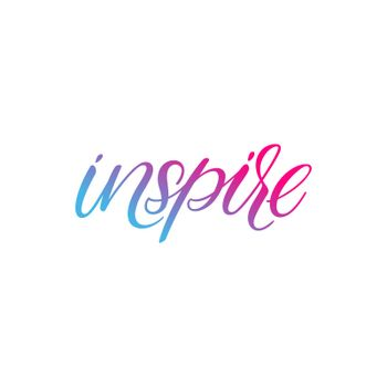 Inspire hand lettering text