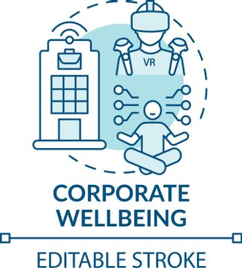 Corporate wellbeing concept icon