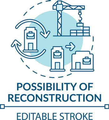 Reconstruction possibility concept icon