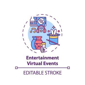 Entertainment virtual events concept icon