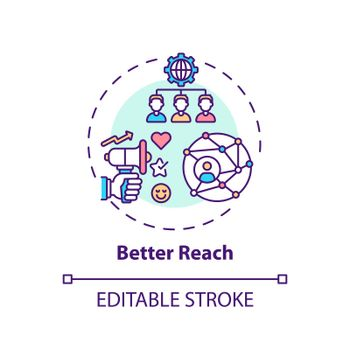 Better reach concept icon