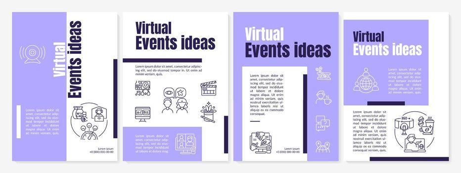 Virtual events ideas brochure template