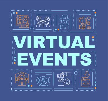 Virtual events word concepts banner