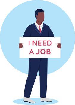 Unemployment flat concept vector illustration