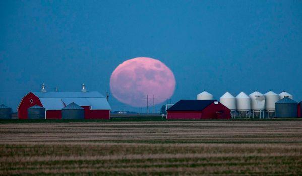Prairie Full Moon