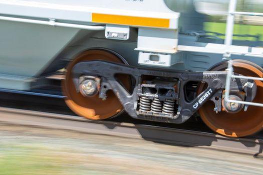 Blurrred Train Wheels