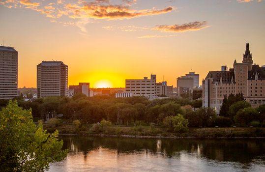 Sunset Downtown Saskatoon