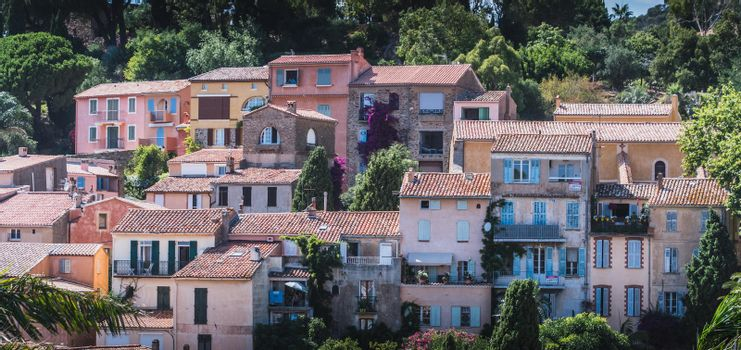 Bormes-les-Mimosas typical village in the south of France