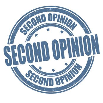 Second opinion grunge rubber stamp