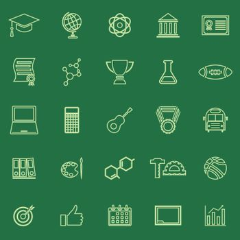 College line color icons on green background