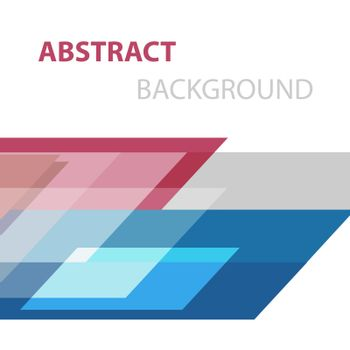 Abstract background with geometric overlapping