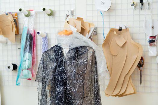 Dressed mannequin in fashion design studio