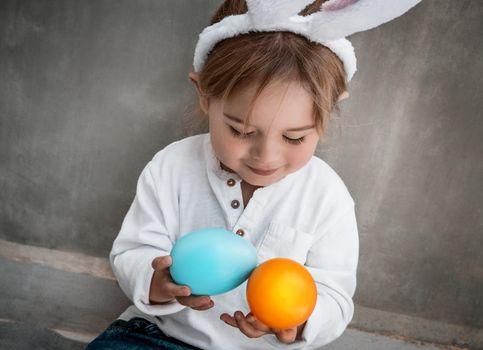 Cute Little Baby Celebrate Easter