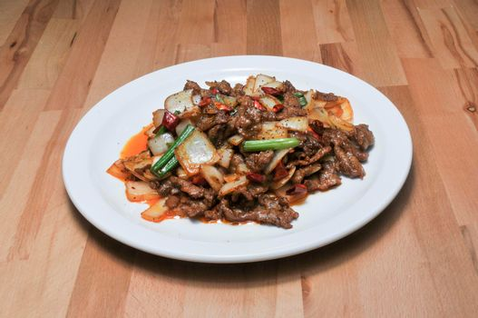 Delicious authentic chinese dish known as mogolion beef