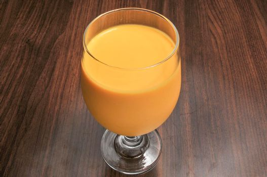 Traditional Indian beverage known as the mango lasi