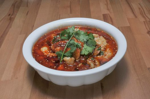 Traditional Chinese dish known as Fish in Red Chili Oil