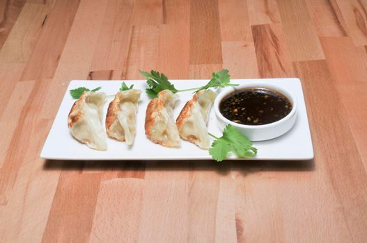 Traditional and authentic delicious Chinese cuisine known as fried dumplings