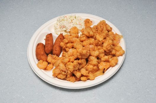 Delicious fried seafood best known as shrimp