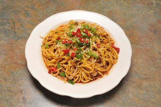 Delicious Chinese dish known as Lo Mien Noodles.