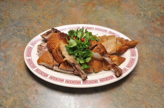 Delicious cuisine known best as roast duck